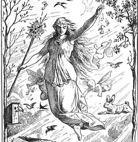 Ostara (1884) by Johannes Gehrts