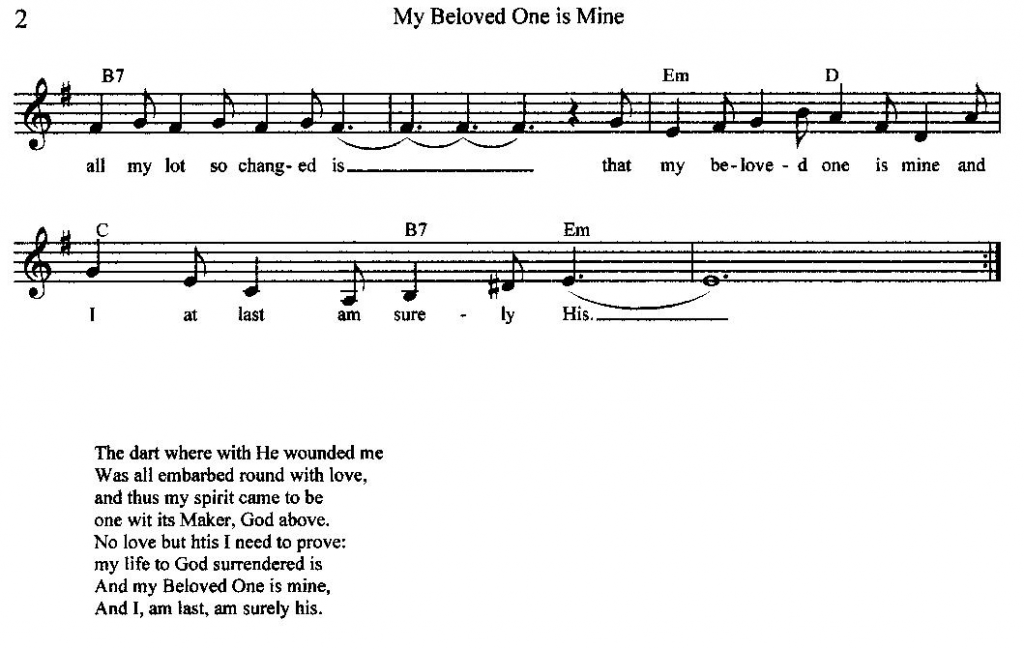 My Beloved One is Mine by Pamela Holm, page 2