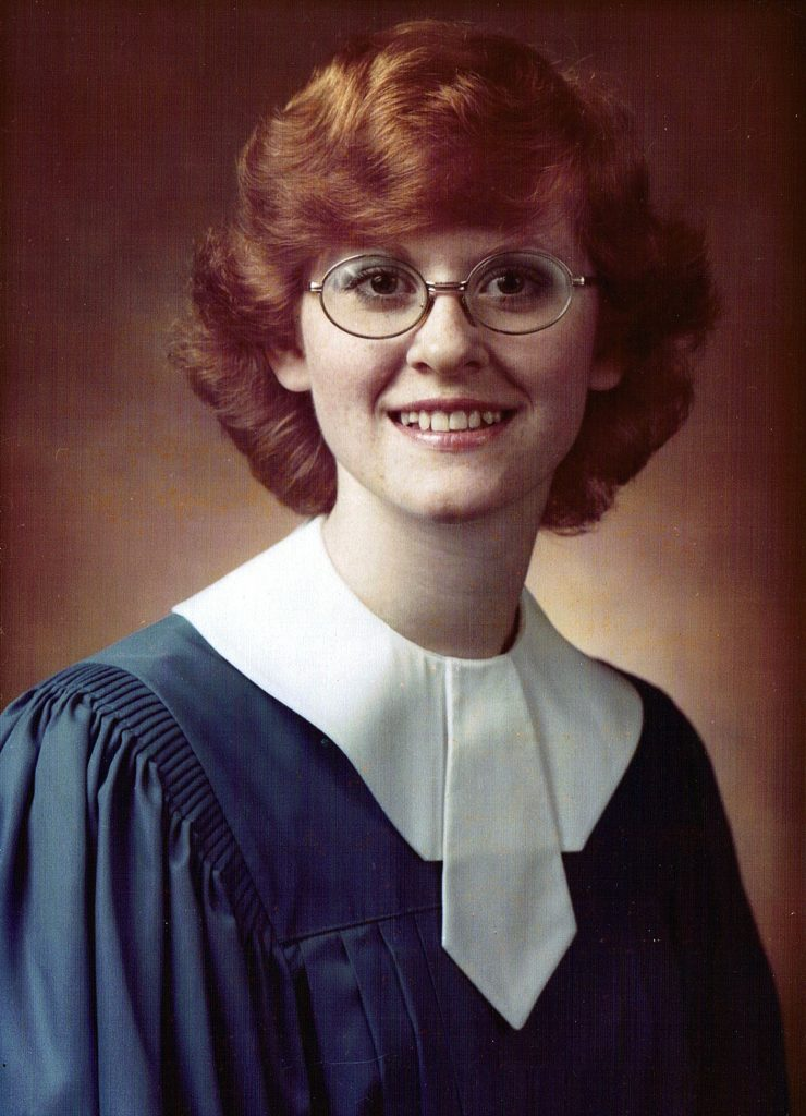 Pamela's high school graduation photo