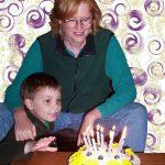 Pam's 44th birthday cake